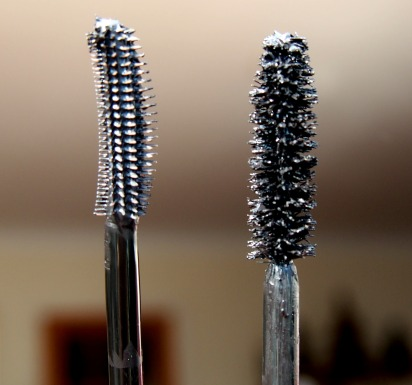 Left - Roller Lash brush, Right - Perversion brush